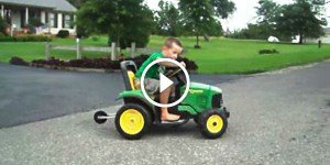 4yr old drift on 24v john deere tractor