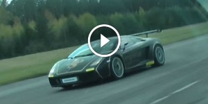 BMW E30 vs Lamborghini Gallardo Twin Turbo from 100 kmh