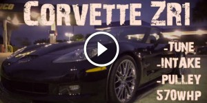 Corvette ZR1 almost crashes racing R35 GTR