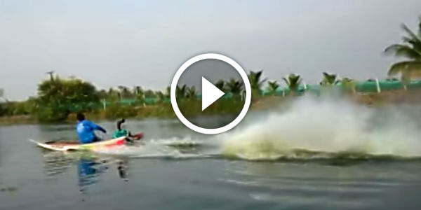 Mighty Thai Drag Race Long Tail Boat Reaching Bullet Speed