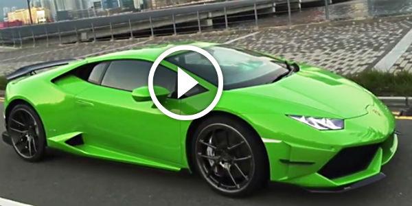 GREEN DEMONIC Lamborghini Huracan DMC Affari BLOWS MY MIND NO - Sports cars lamborghini