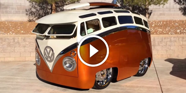 HUGE FUN! Check Out This Incredible Real-Steel Cartoon Version Of A '60s VW Type II Microbus!