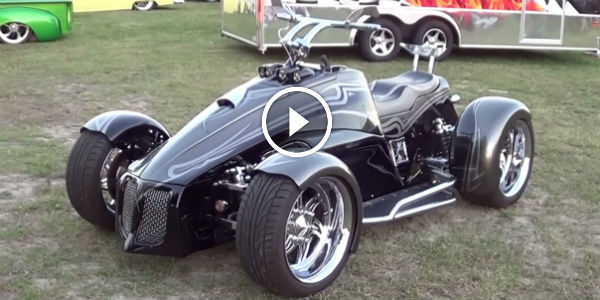 "CRAZY ""Shredder"" READY TO EAT YOU ALIVE: Custom Built Street QUAD Powered By LS2 V8 Engine!"