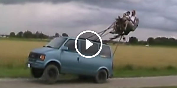FUNNY ROLLERCOASTER VAN Performs A Wheelie: Three Crazy Victims Are Needed For This Achievement!