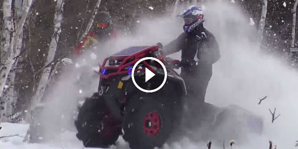 BEAST MODE IS ON – Rate This One! Watch This Off-Road Can Am ATV In Some Impressive SNOW Performance!