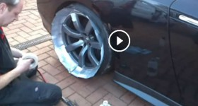 DCG1 How to Paint alloy Wheels on a 720bhp Nissan GTR 'without' taking the wheels off