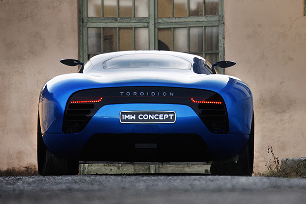 Toroidion Electric Supercar Concept Rear End No Car No Fun