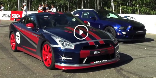 ULTIMATE DRAG BATTLE: Stock Ford Mustang Shelby GT500 ...