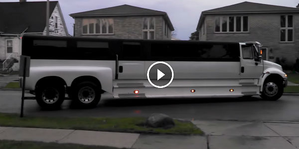 semi truck transformed  beautiful limo   wheels  car