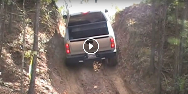 ONLY THE CHEVY SILVERADO Can Perform Such A MAGNIFICENT CLIMB ON A STEEP HILL!