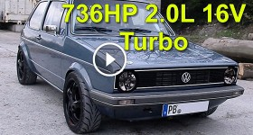 VW Golf MK1 736HP 2.0L 16V Turbo