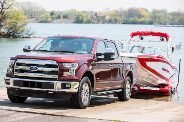 2016 Ford F-150 with Pro Trailer Backup Assist front three quarters