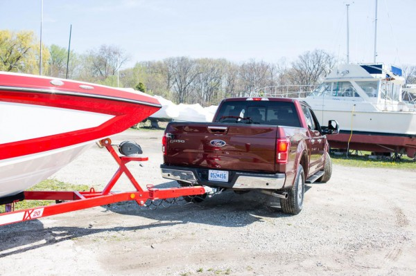 2016 Ford F-150 with Pro Trailer Backup Assist rear three quarters
