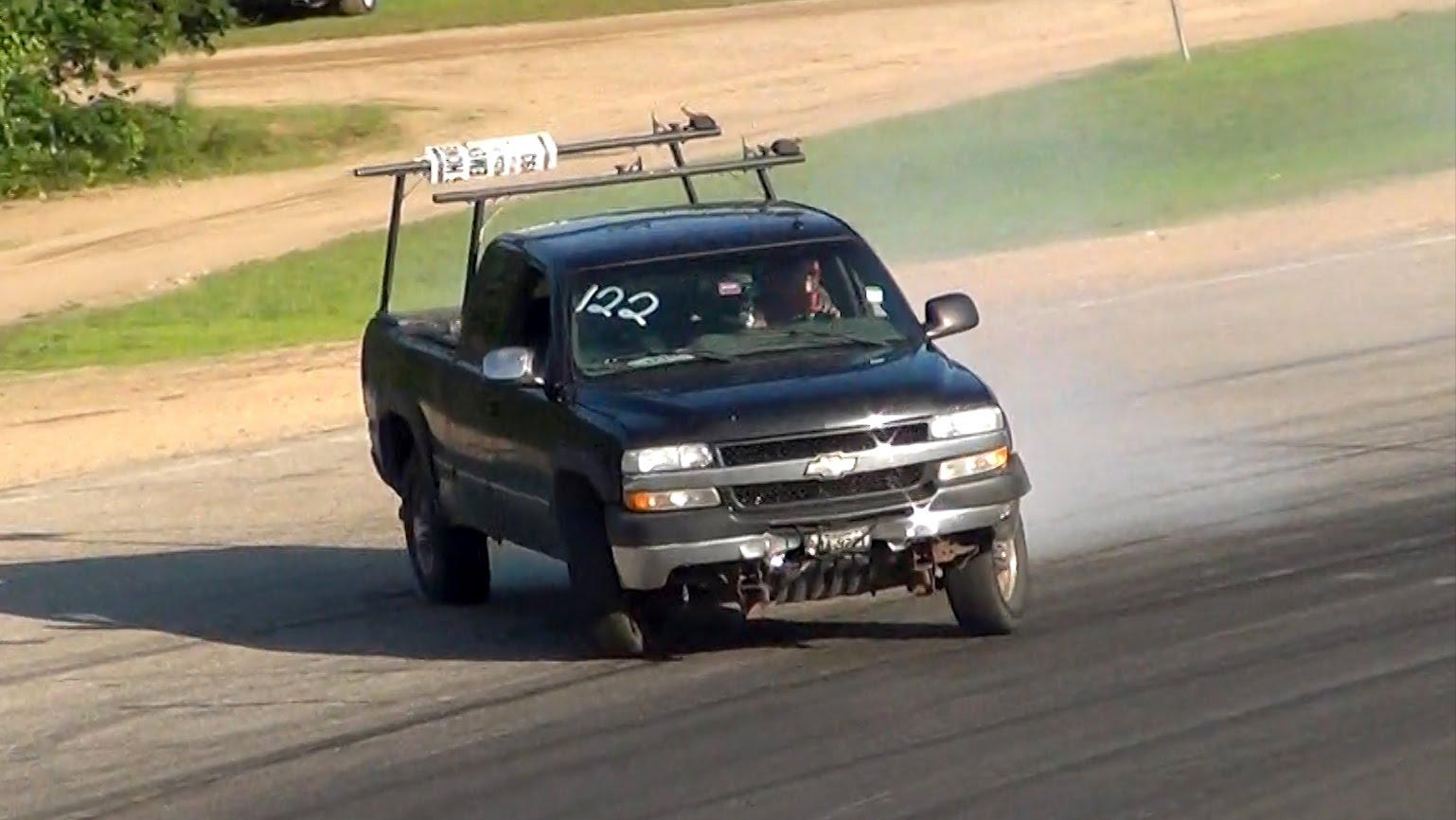 Chevy Silverado Work Truck Drifting Big No Car No