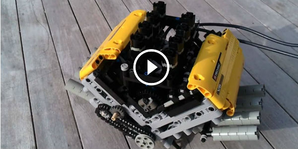 PNEUMATIC LEGO V8 Engine Running Smoothly at HIGH RPM! Can You Believe This?!