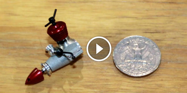 smallest rc engines   world  simply amazing   big  quarter dollar coin