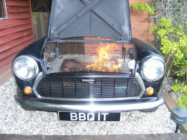 Old Car Turned Into A Barbecue Front End No Car No Fun