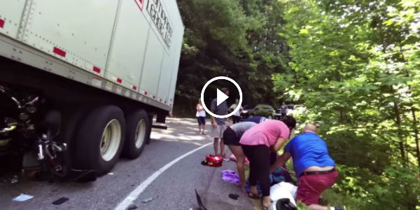 LESSON LEARNED: Never Try To Squeeze By A Semi-Truck On Curvy Road! BE SURE TO WATCH THIS ONE…