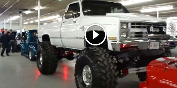 Chevy Silverado X Monster Inch Super Swampers Jacked Insane Mudder on Chevy Magnum