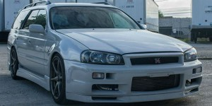 Nissan R34 GT-R Wagon front three quarters view - featured image