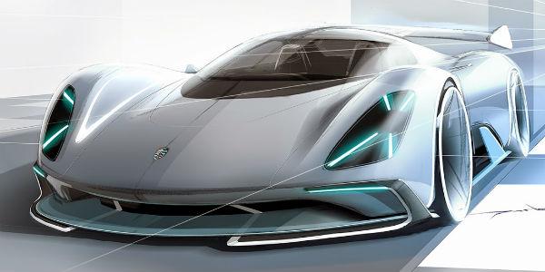 Porsche Electric Le Mans Prototype Front Three Quarters Design Featured Image on 06 Dodge Magnum