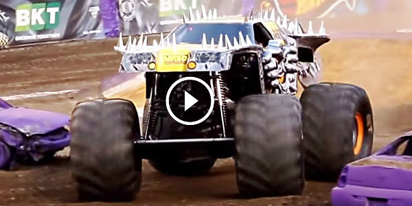 Monster Trucks Going On A Hell Ride Hot Action The