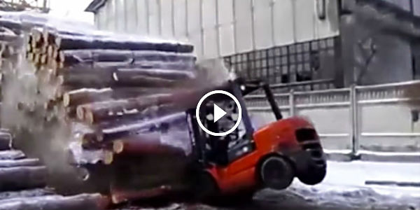 What A Crazy Forklift Driver Watch This Insane Dude