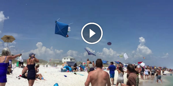 How To Disturb A Quiet Beach With A Blue Angel Fly By! This Is Both Cool And Hilarious!
