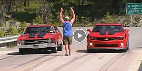 OLD '72 CHEVELLE BIG BLOCK VS. NEW 2010 CAMARO SS/RS! Chevrolet Muscle Cars In An Epic Drag Race