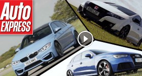 Honda Civic Type R vs BMW M3 vs. Audi RS3 track battle