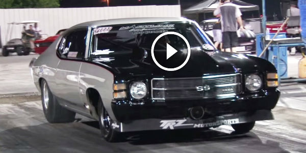 The Tulsa Raceway Park Is Afraid Of This KILLER LOOKING PROCHARGED 1971 CHEVELLE SS On 315 Drag ...