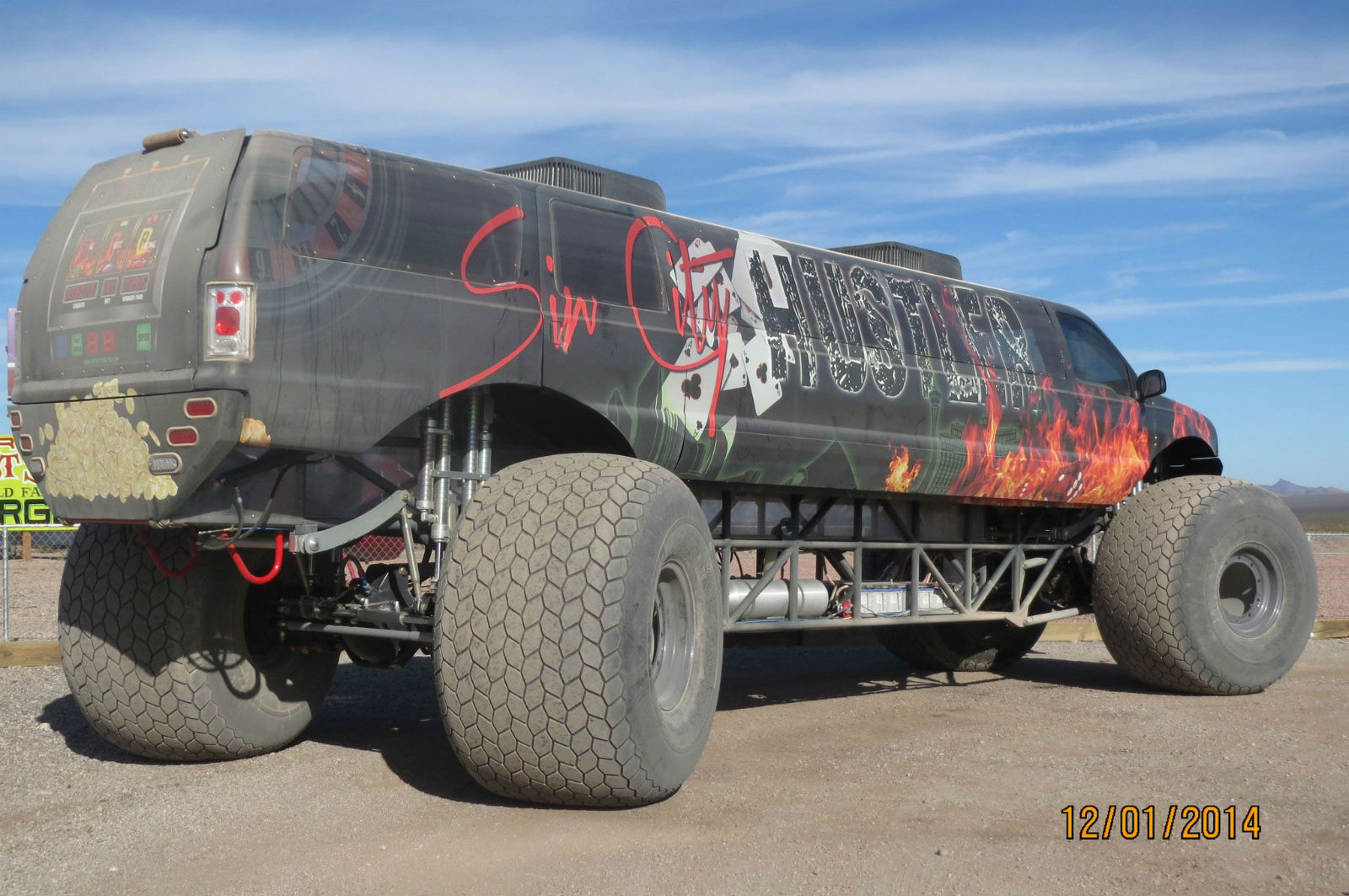 Sin City Hustler Monster Truck Front End View No Car No Fun