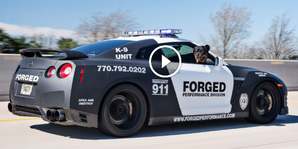 Nissan GT-R Turned Into A Mean Police Car Rolling At TX2K14: This Is ...
