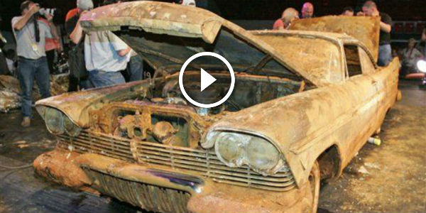 1957 Plymouth Belvedere BURIED UNDERGROUND As A Part Of A ...
