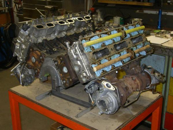 A Quad-Turbo V12 From 2 Supra Motors side three quarters work in progress