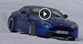 Aston Martin V12 Vantage S Drifting on Ice