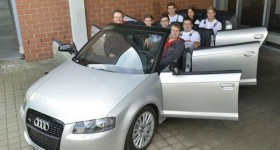 Audi A3 Cabrio with six doors front three quarters - cl