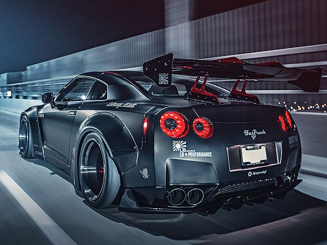 Nissan Gtr R35 With Liberty Walk Body Kit Rear Three Quarters No