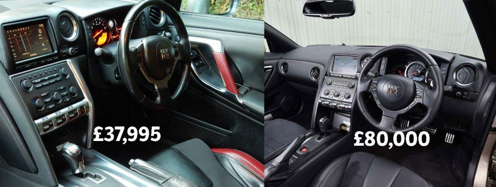 2009 Nissan GTR R35 Vs. 2015 Nissan GTR R35 Interior