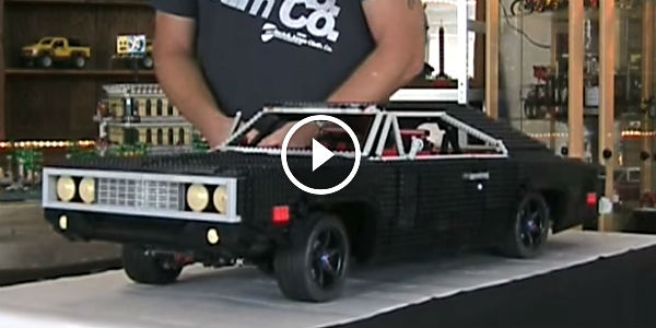 One Absolutely Awesome 1970 Dodge Charger Made Of Legos
