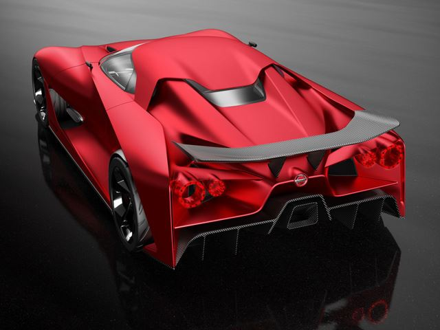 Nissan 2020 Vision Gran Turismo rear three quarters top view - NO ...