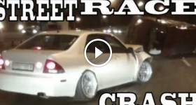 TUNED LEXUS STREET RACING CRASH - OVERTAKE FAIL
