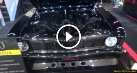 1500HP 1970 Chevy Nova 572 CI Big Block Chevy TWIN f 2 Prochargers by Rides by Kam at 2015 Sema Motor
