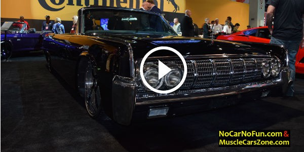 1964 lincoln continental with forgiato wheels at 2015 sema motor show is an a. Black Bedroom Furniture Sets. Home Design Ideas