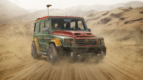 Boba Fett Mercedes G-Class front three quarters