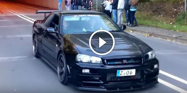 Nissan Skyline R34 GTR V Spec Nismo Omori Factory S1 Coming Out Of A Tunnel To Cause EVERYONE'S JOY AND THRILL!!!