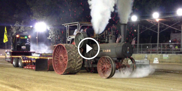 THIS IS TRUE PIECE OF HISTORY: 110HP Case Steam HEAVY MACHINE At Tractor Pull In Pinckneyville Illinois!!!