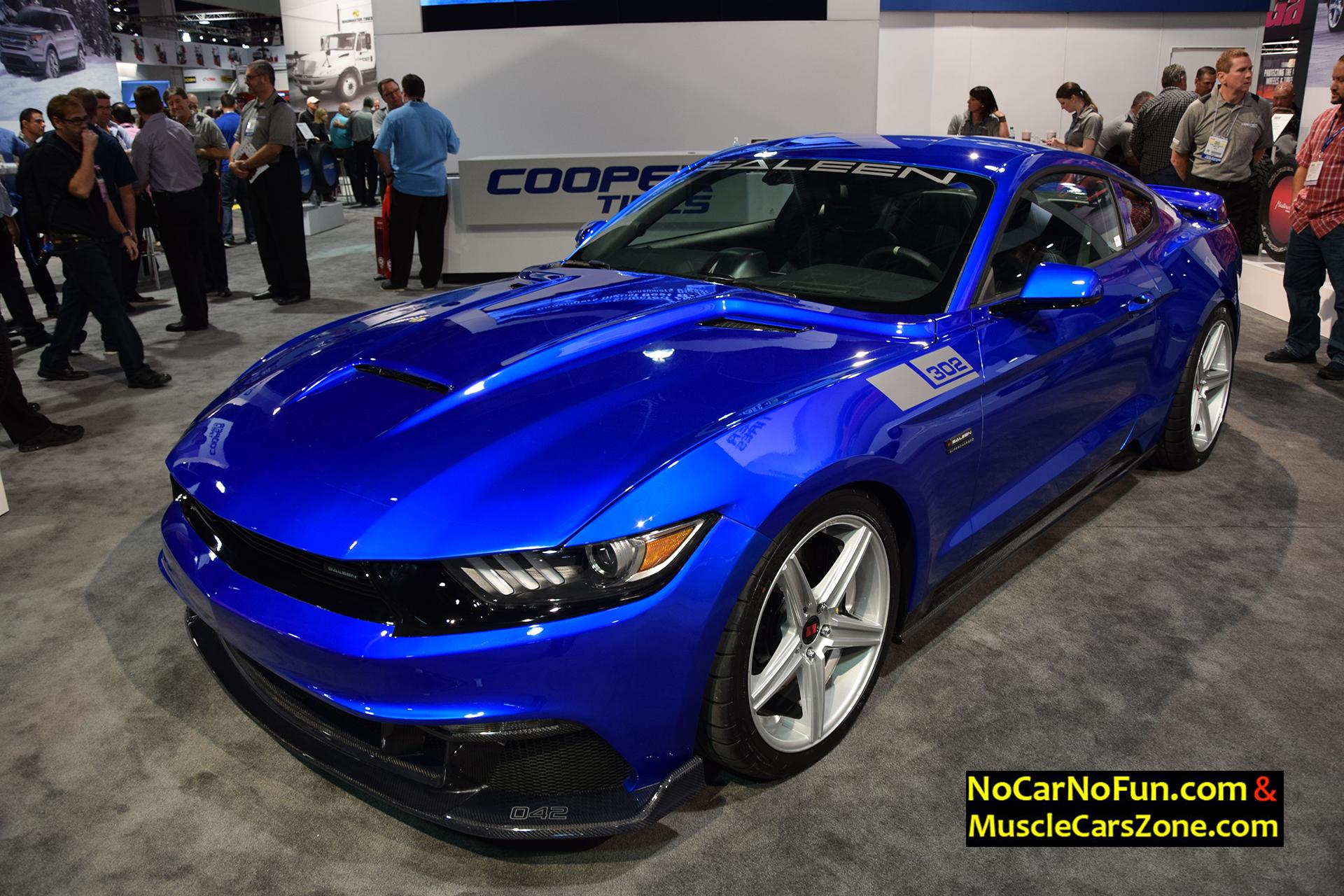 2015 Ford Mustang 302 Saleen Metallic Blue 2015 Sema