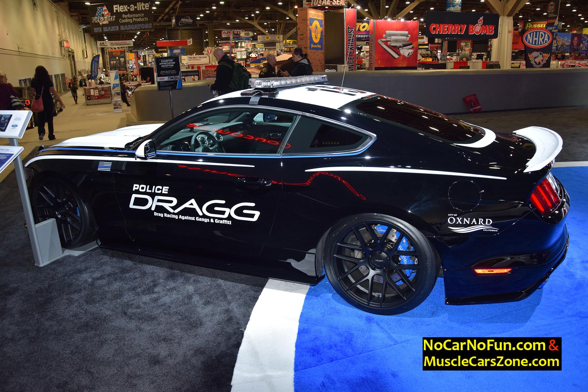 Ford Mustang Police Car DRAGG Oxnard SEMA Motor Show - Oxnard car show