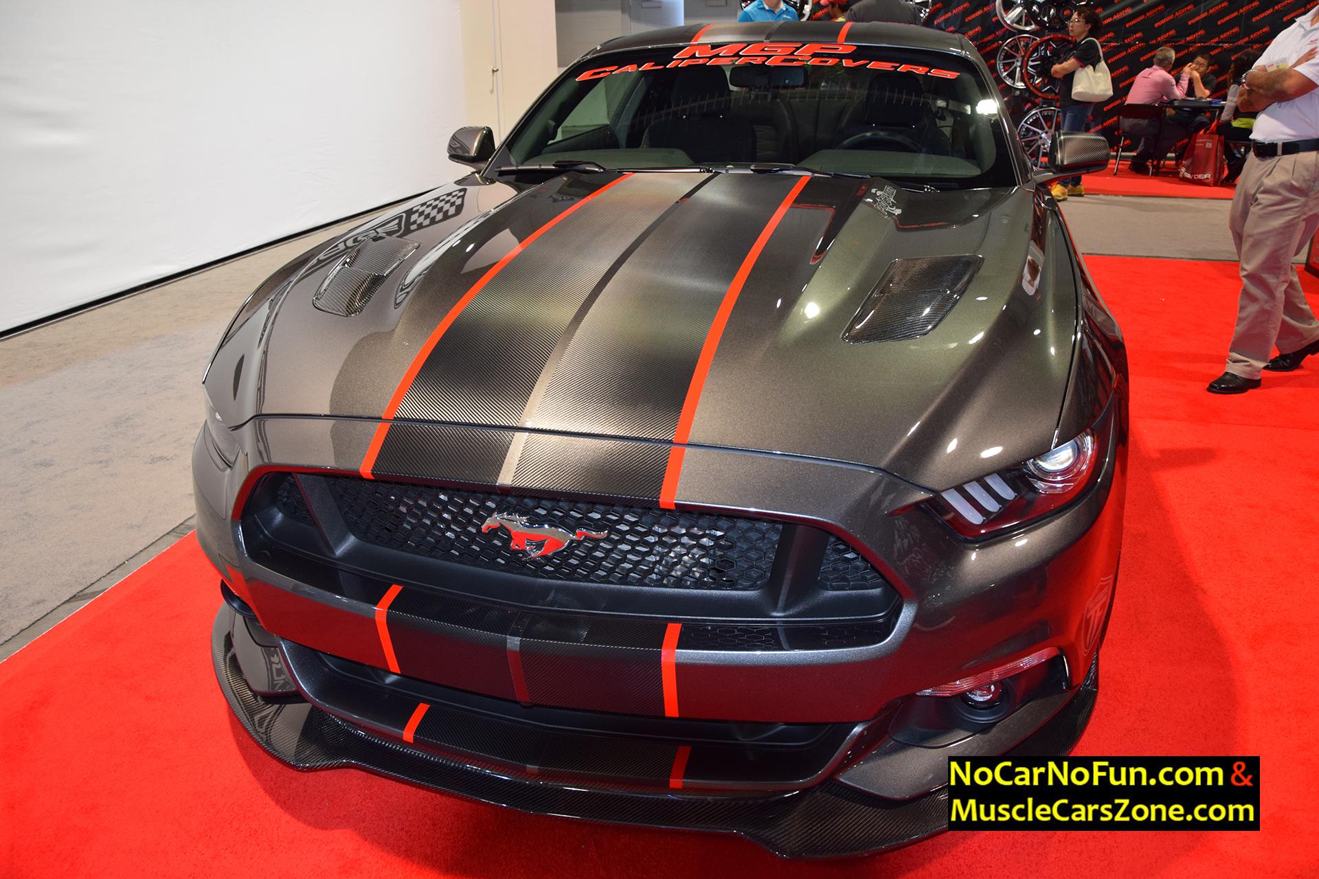 2016 ford mustang gt 5 0 mgp caliper covers 2015 sema motor show 3 no car no fun muscle. Black Bedroom Furniture Sets. Home Design Ideas